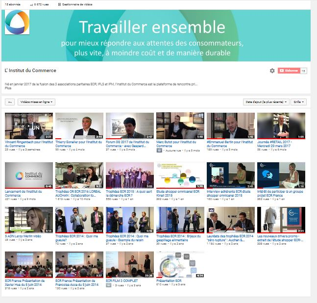 Chaîne Youtube Institut du Commerce