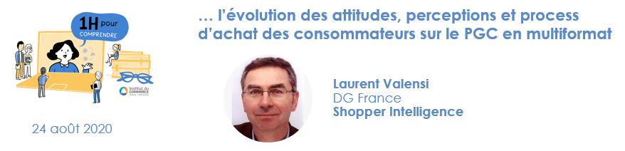 l'évolution des attitudes, perceptions et process d'achat des consommateurs sur le PGC en multiformat
