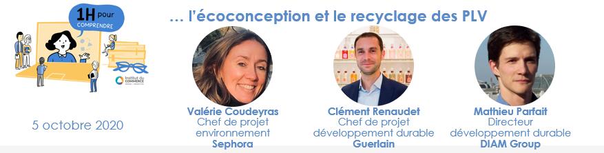l'écoconception et le recyclage des PLV