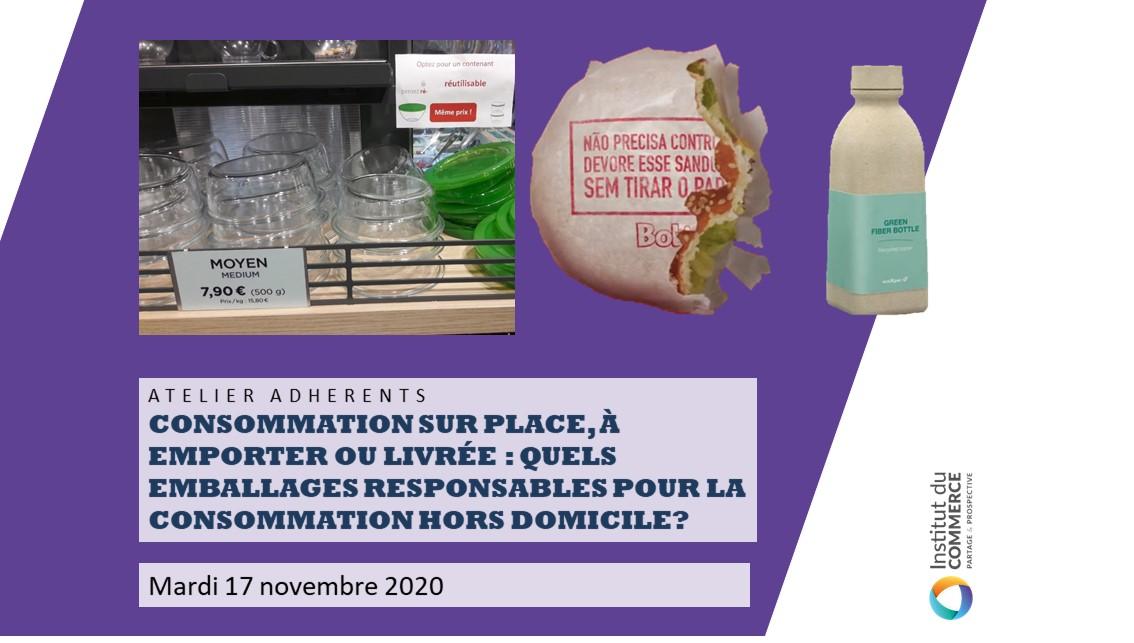 Consommation sur place, à emporter ou livrée : quels emballages responsables pour la consommation hors domicile?